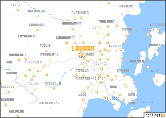 map of Laua-an
