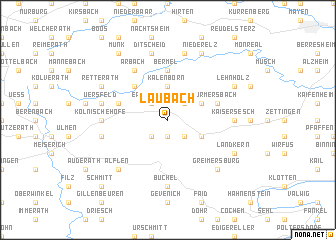 map of Laubach