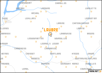 map of Laubre