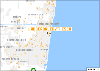 map of Lauderdale-by-the-Sea
