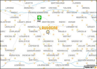 map of Laudogne