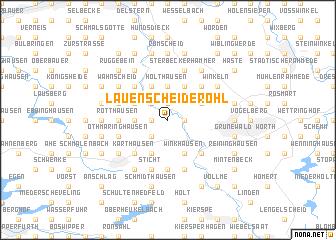 map of Lauenscheiderohl
