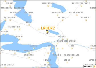 map of Lauerz