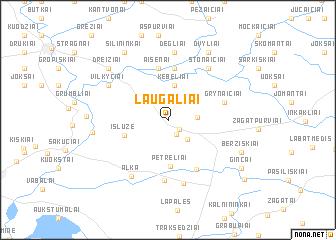 map of Laugaliai