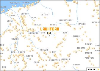 map of Laukfoan