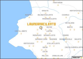 Cilento Region Italy Map.Laureana Cilento Italy Map Nona Net