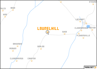 map of Laurel Hill