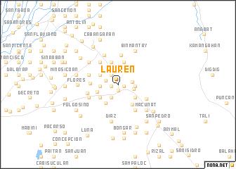 map of Lauren