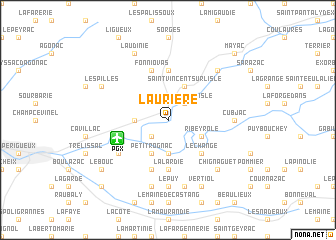 map of Laurière
