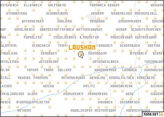 map of Lausham