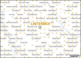 map of Lautenbach