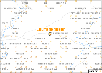 map of Lautenhausen