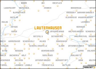 map of Lautenhausen