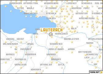map of Lauterach
