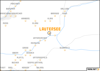 map of Lautersee