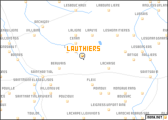 map of Lauthiers