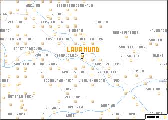 map of Lavamünd
