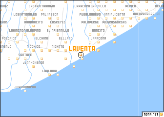 map of La Venta
