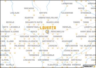 map of La Venta