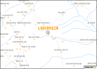 map of La Vianeza