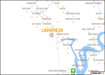 map of La Vieneza