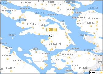 map of Lavik