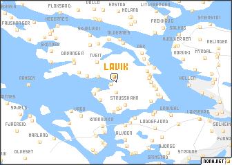 map of Lavik