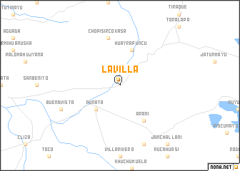 map of La Villa