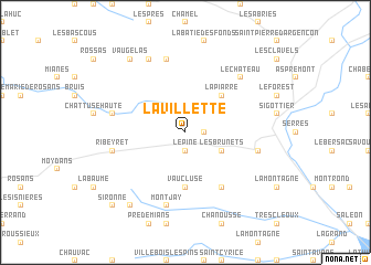 map of La Villette