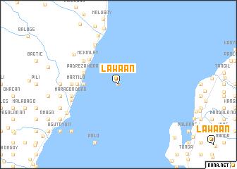 map of Lawaan