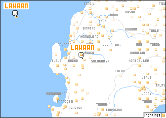 map of Lawa-an