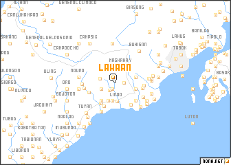 map of Lawa-an