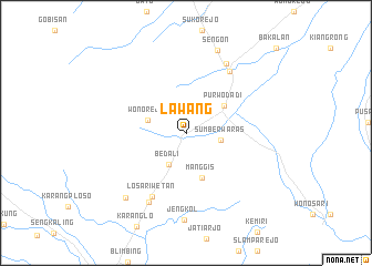 map of Lawang