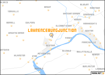 map of Lawrenceburg Junction