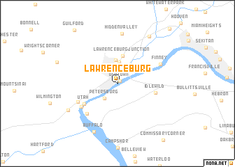 map of Lawrenceburg