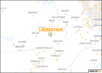 map of Lawsontown