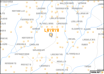 map of La Yaya