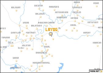 map of Layog