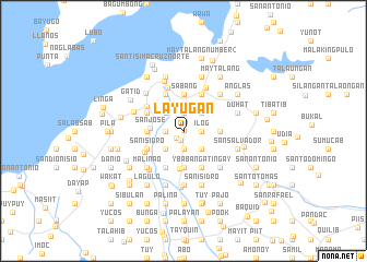 map of Layugan