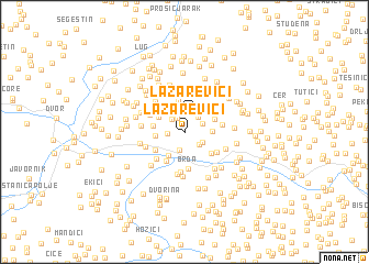 map of Lazarevići