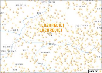 map of Lazarevići