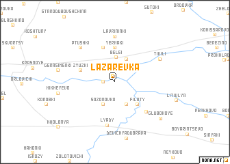 map of Lazarevka
