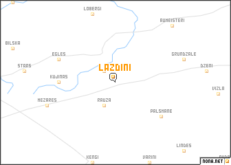 map of Lazdiņi
