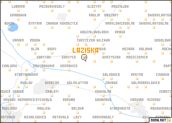 map of Łaziska