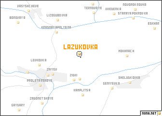map of Lazukovka