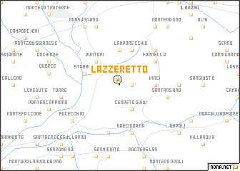 map of Lazzeretto