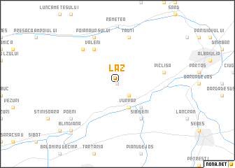 map of Laz