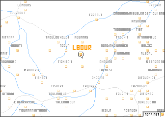 map of Lbour