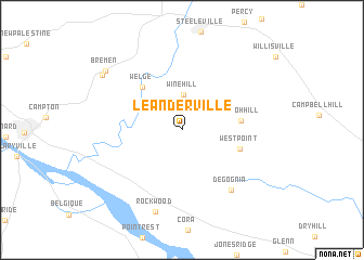 map of Leanderville