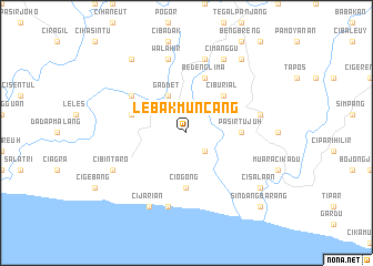 map of Lebakmuncang